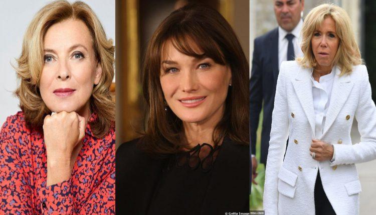 Brigitte Macron, Valérie Trierweiler, Carla Bruni @ Montage Getty Image