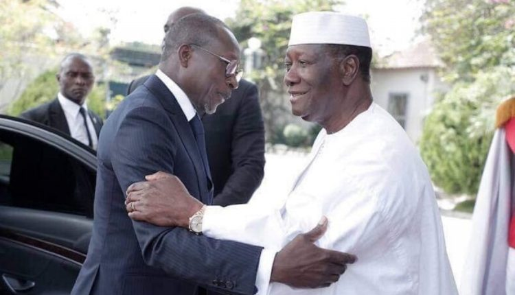 Patrice Talon le président béninois et son homologue de la Côte d'Ivoire Alassane Ouattara