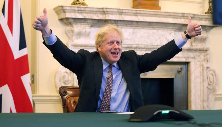 Le Premier ministre britannique après la conclusion d'un accord avec l'Union européenne sur le Brexit jeudi 24 décembre 2020