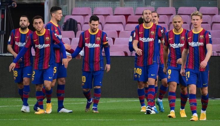 Les joueurs du Barça déçus