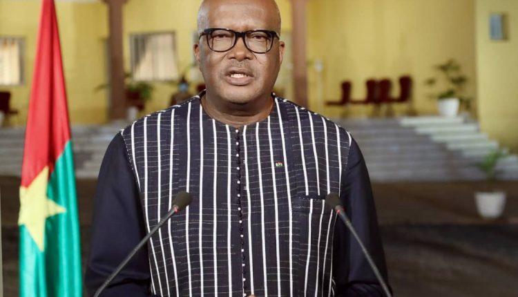 Le président burkinabé Roch Marc Christian Kaboré, réélu pour un second mandat