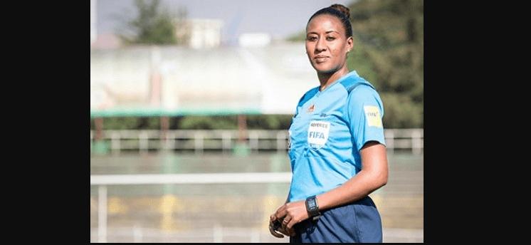 Aujourd'hui, l'Éthiopienne Lydia Tadesse entrera dans l'histoire en devenant la première femme à arbitrer un senior masculin lors d'un tournoi @CAF_Online .