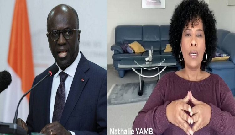 L'ancien ministre ivoirien des affaires étrangères et l'activiste panafricaniste Nathalie Yamb