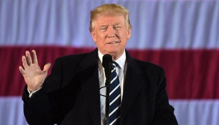 Donald Trump lors d'un meeting de campagne pour la présidentielle du 3 novembre 2020