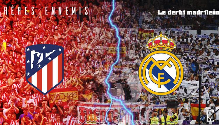 Illustration du derby madrilène en Liga espagnole entre l'Atlético Madrid et le Real Madrid
