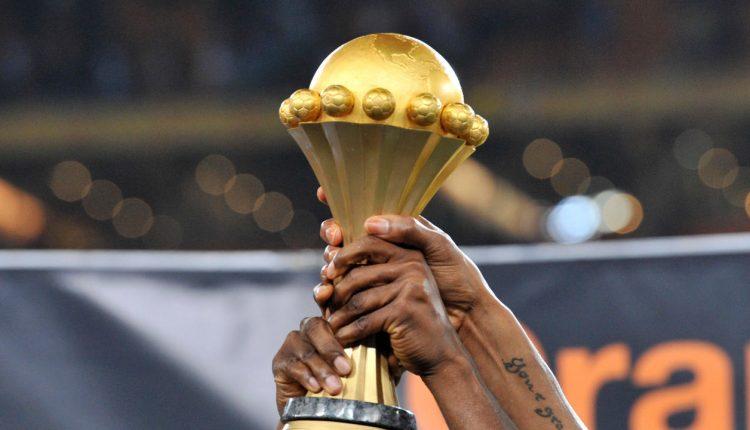 Le trophée remis au vainqueur de la CAN 2017. © AFP/Issouf Sanogo
